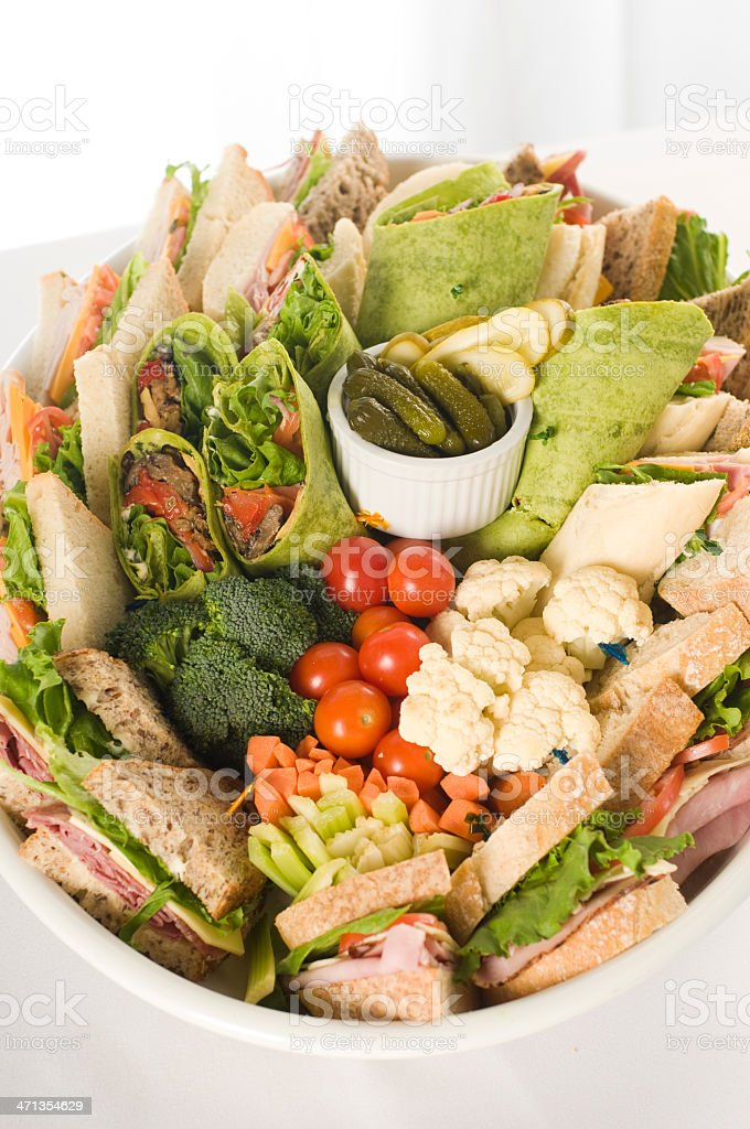 Sandwich Platter royalty-free stock photo