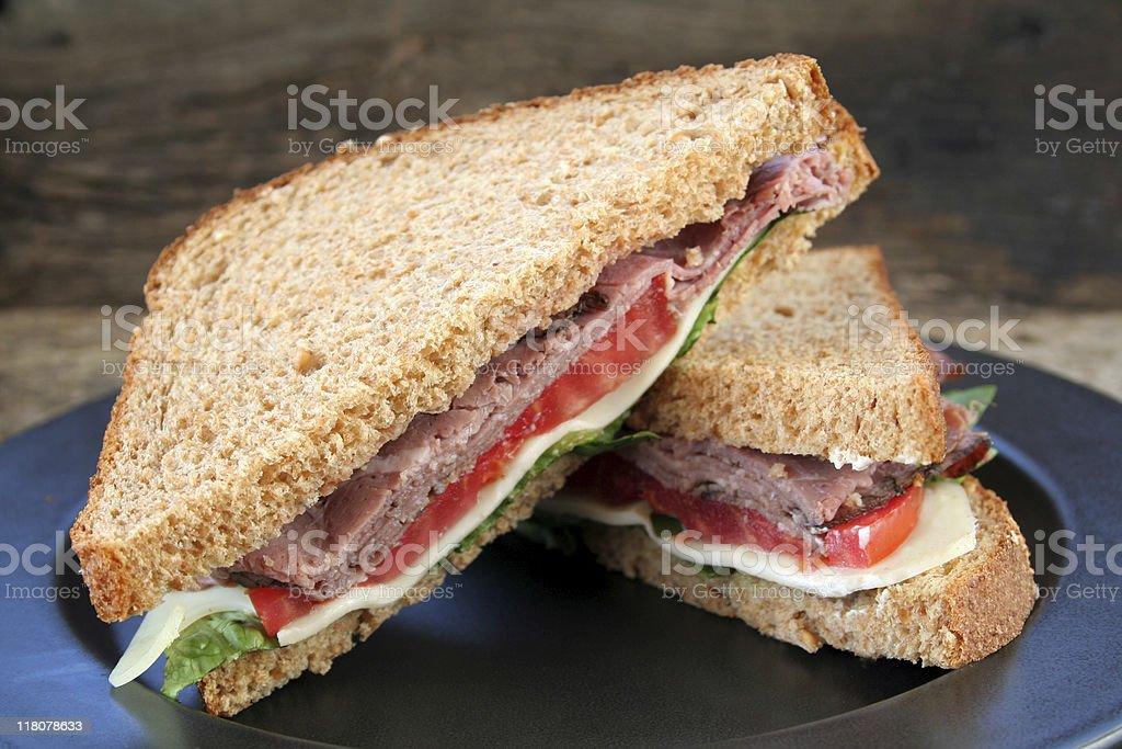 Sandwich Roast Beef royalty-free stock photo