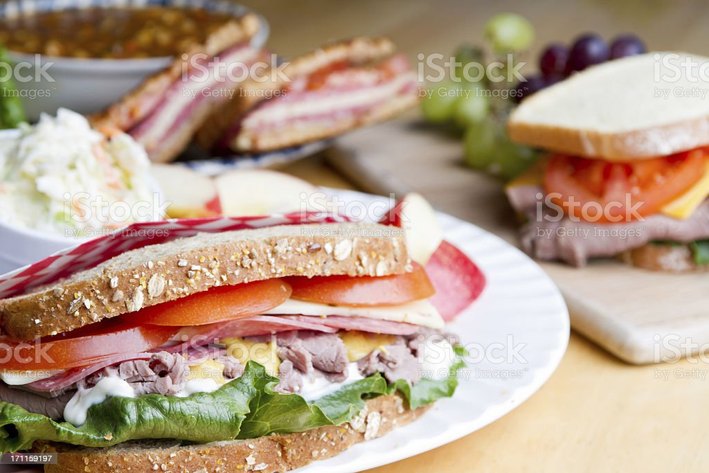 Sandwich Selection royalty-free stock photo