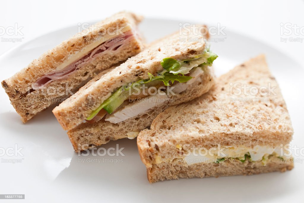 Sandwich Selection stock photo