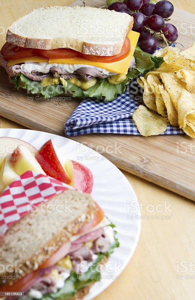 Sandwich Selection royalty-free stock photo