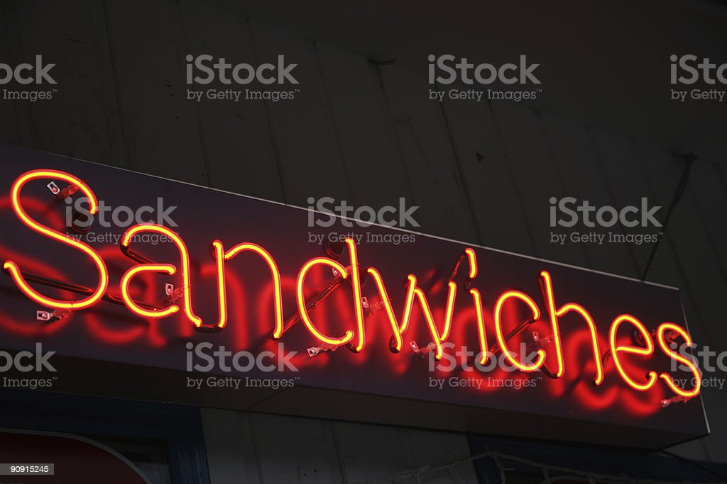 sandwich sign royalty-free stock photo