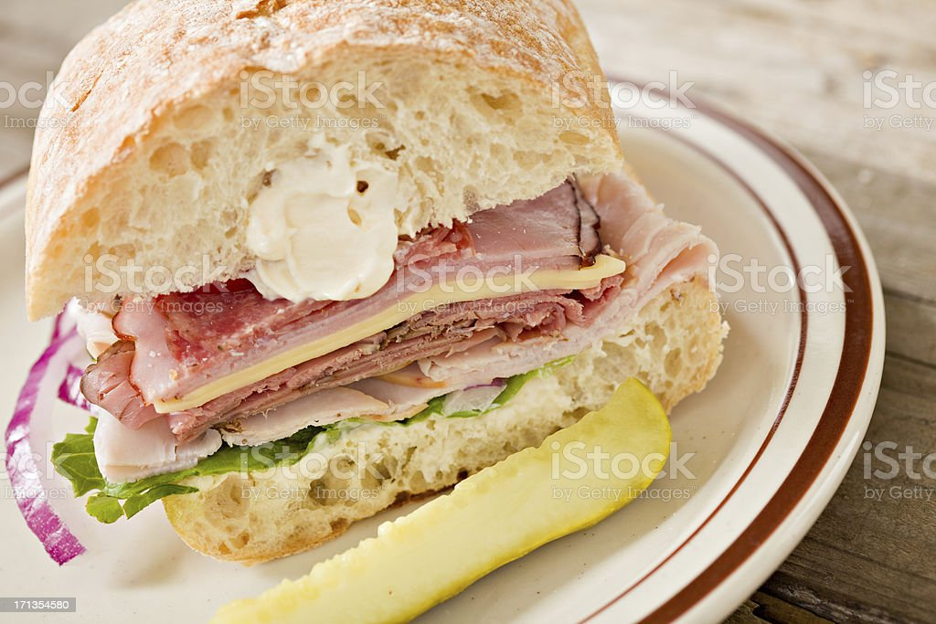 Sandwich Stack On A Plate royalty-free stock photo