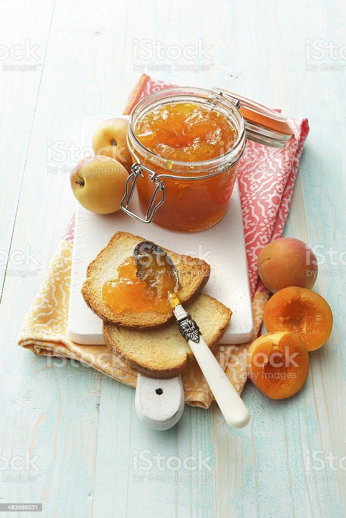 Sandwich Stills: Apricot Jam and Toast stock photo