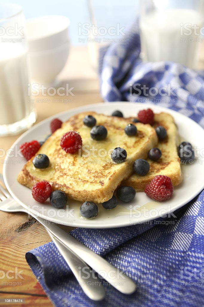 Sandwich Stills: French Toast with Berries royalty-free stock photo