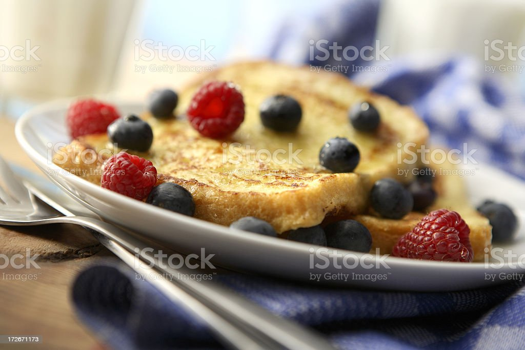 Sandwich Stills: French Toast with Berries stock photo