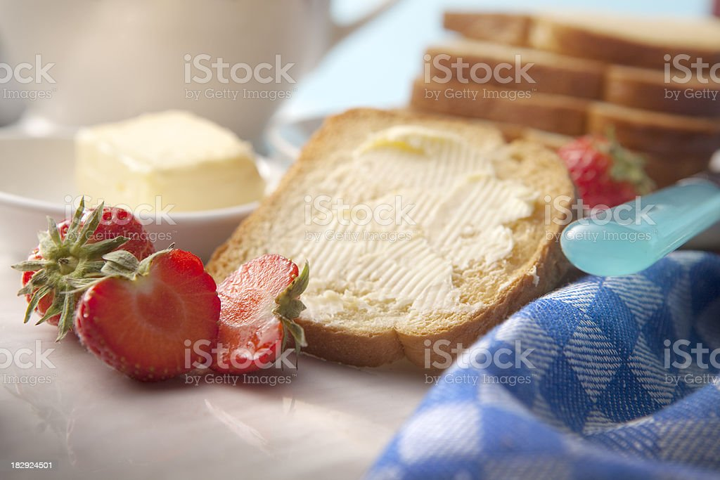 Sandwich Stills: Toast with Butter stock photo