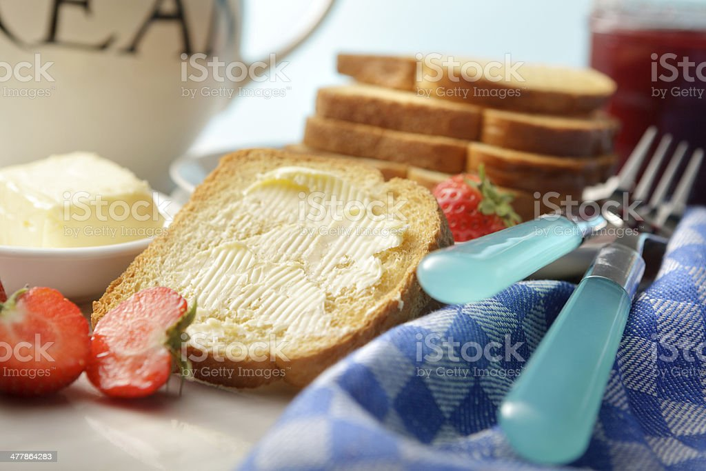 Sandwich Stills: Toast with Butter royalty-free stock photo