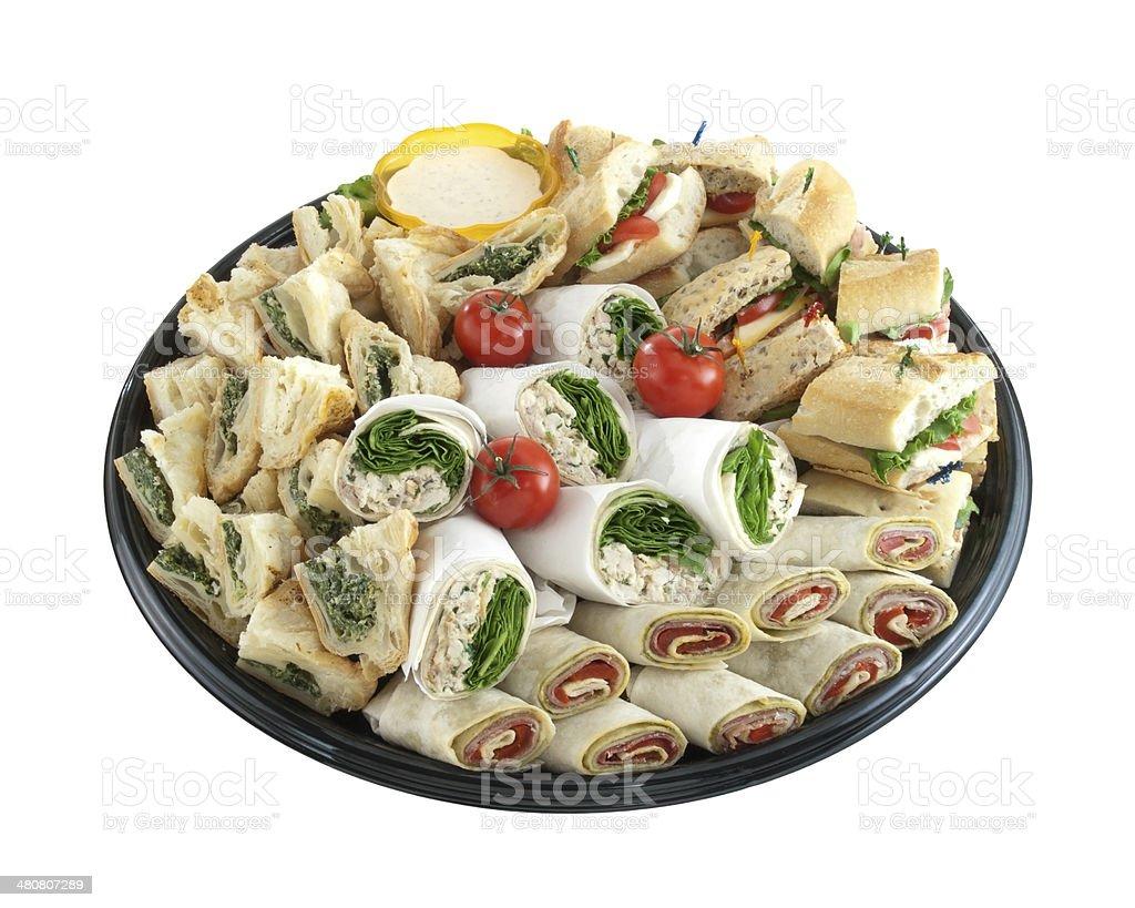 Sandwich tray stock photo
