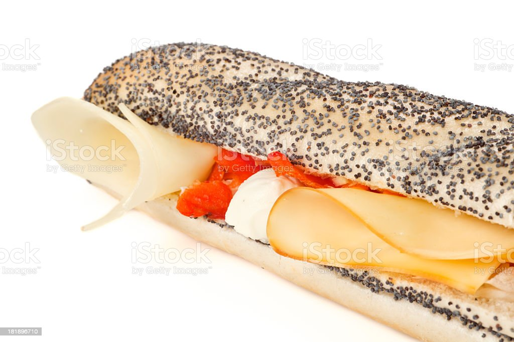 Sandwich with cheese royalty-free stock photo