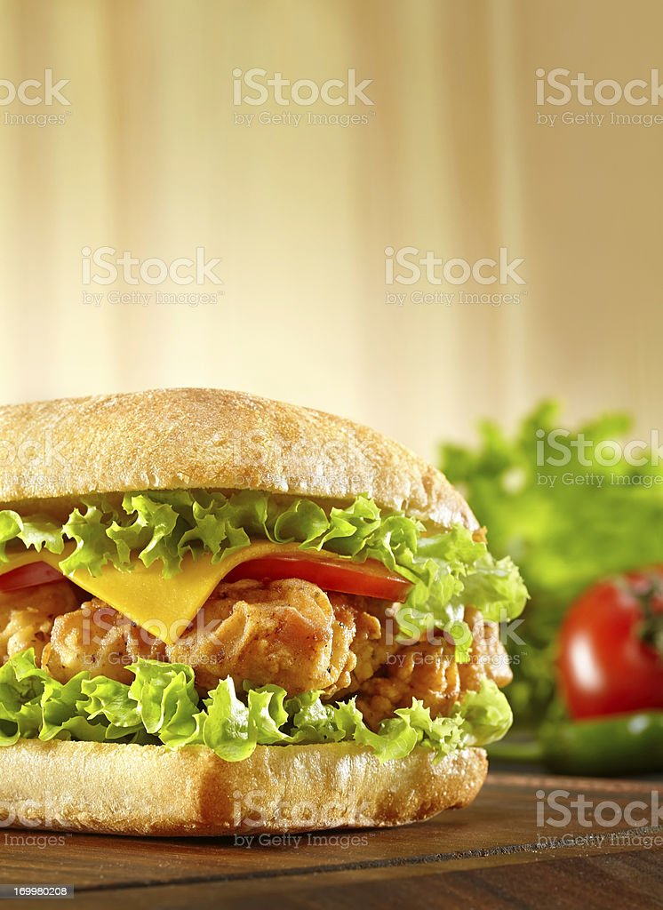 Sandwich with chicken strips royalty-free stock photo