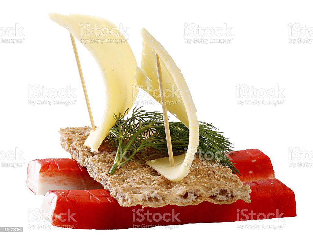Sandwich with crab meat royalty-free stock photo