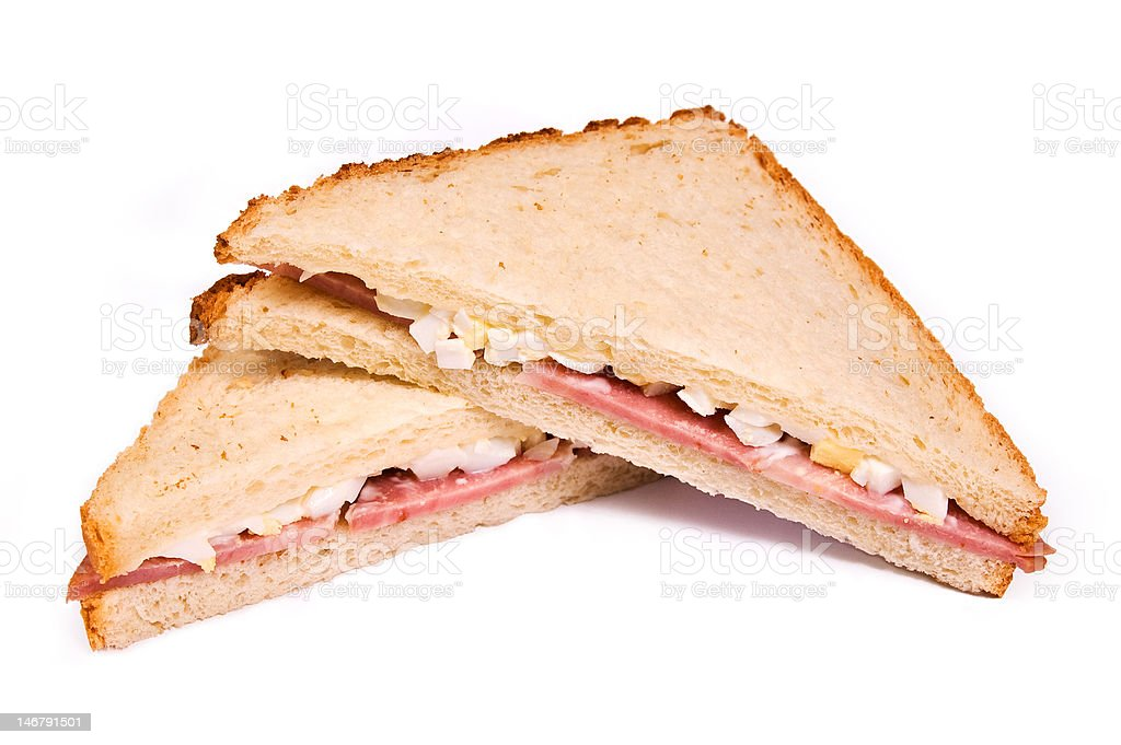 sandwich with eggs royalty-free stock photo