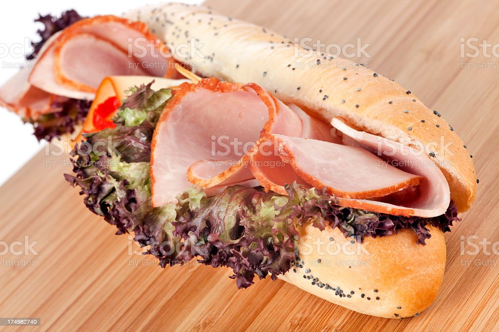 Sandwich with ham and cheese royalty-free stock photo