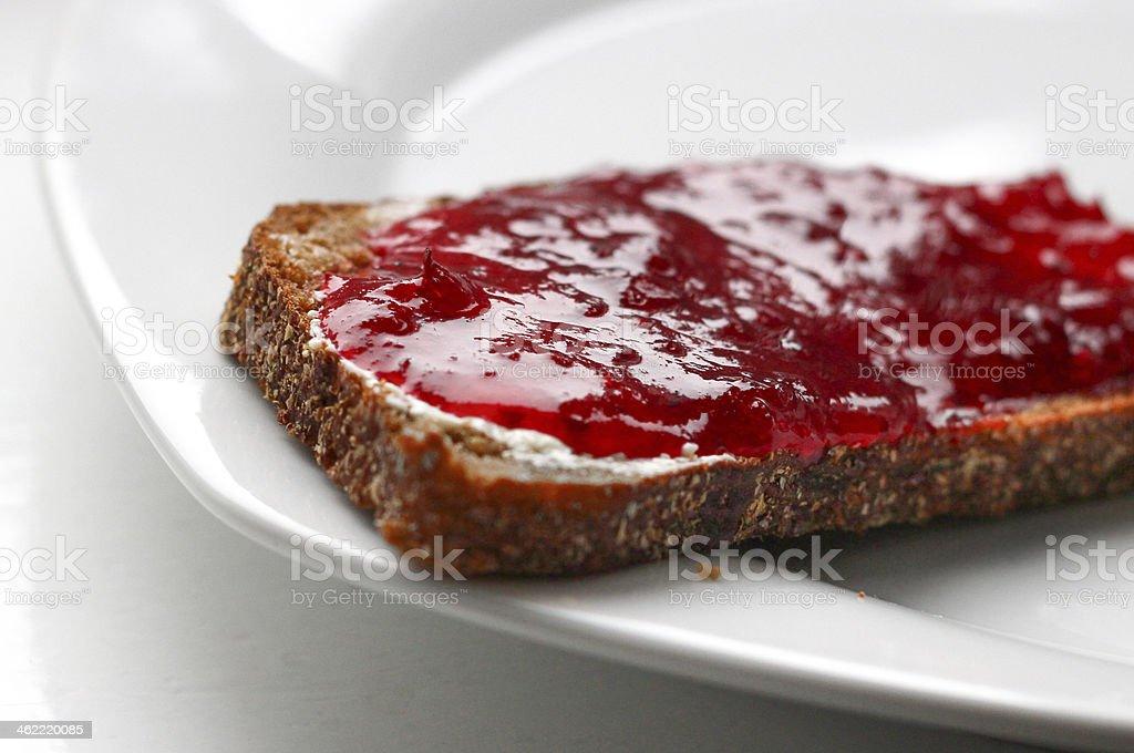 sandwich with jam stock photo