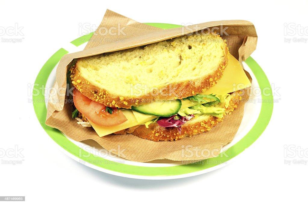 古いチーズサンドイッチ、ます。 ロイヤリティフリーストックフォト