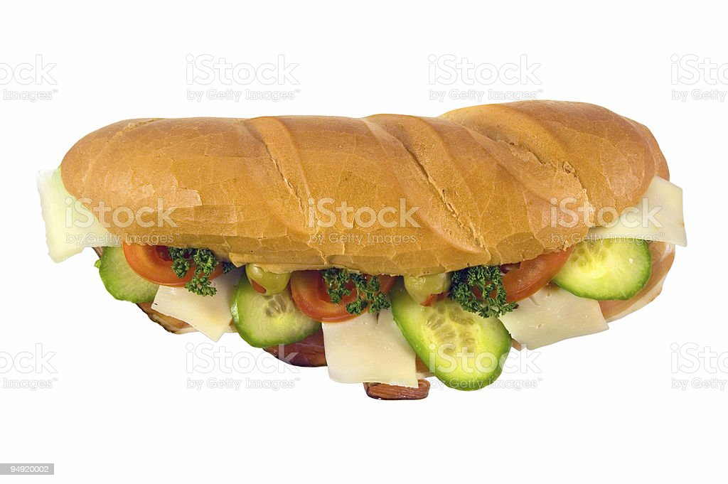 Sandwich with path royalty-free stock photo