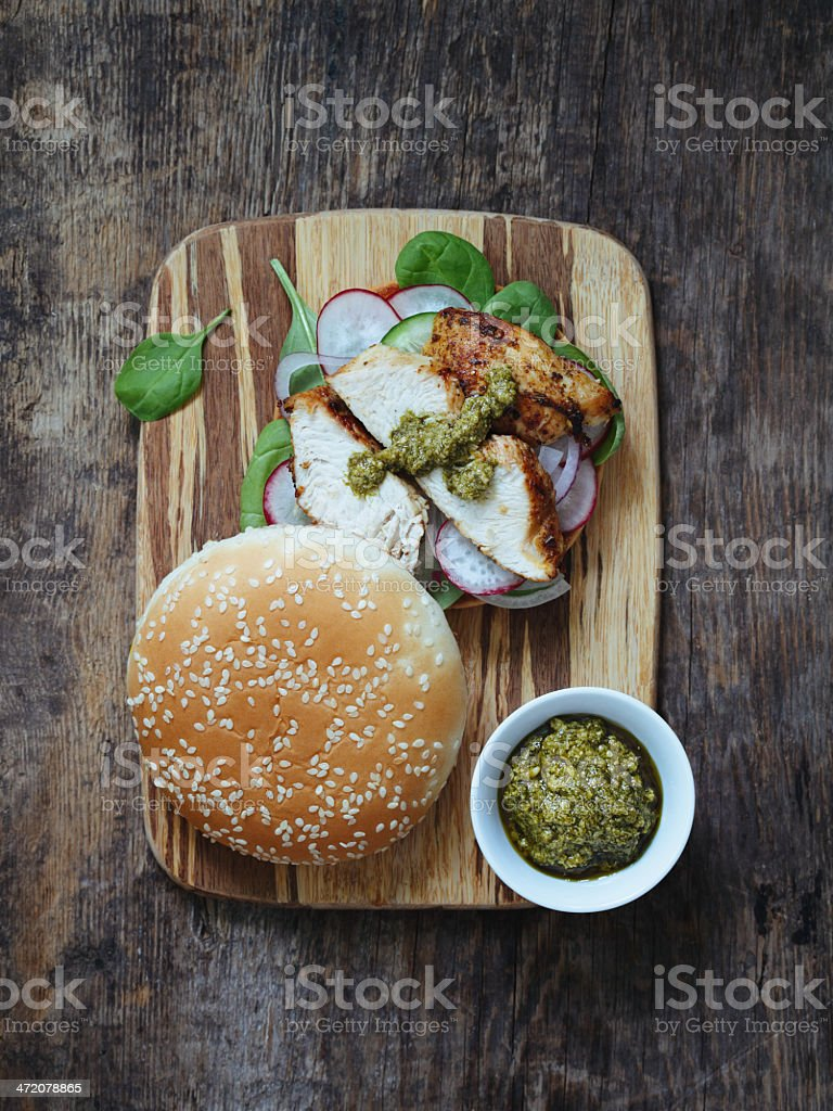 Sandwich with poultry royalty-free stock photo