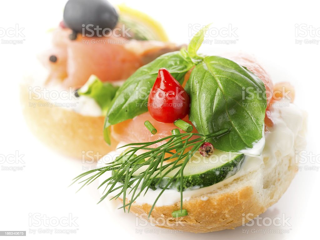 Sandwich with red fish royalty-free stock photo