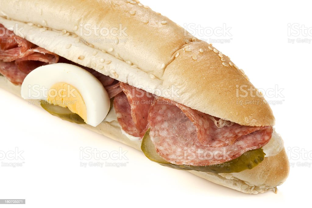Sandwich with salami royalty-free stock photo