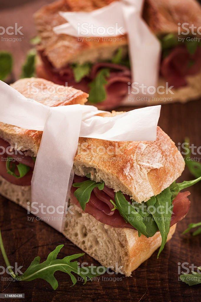 Sandwich with Serrano Ham royalty-free stock photo