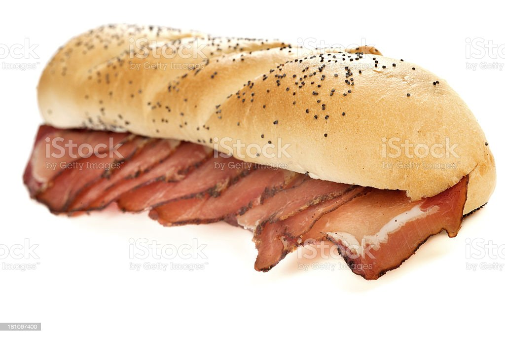 Sandwich with smoked meat royalty-free stock photo