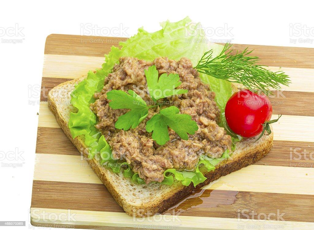 Sandwich with Tuna stock photo