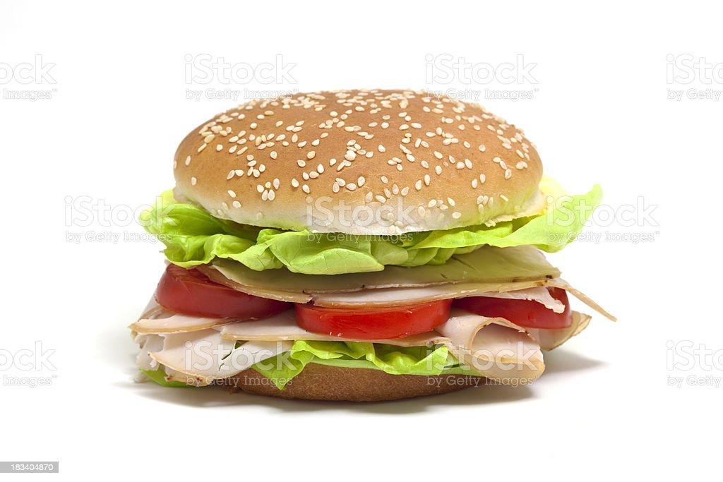 sandwich with turkey breast royalty-free stock photo