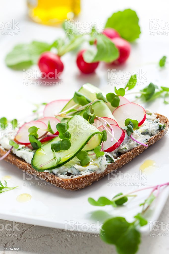 sandwich with vegetables stock photo
