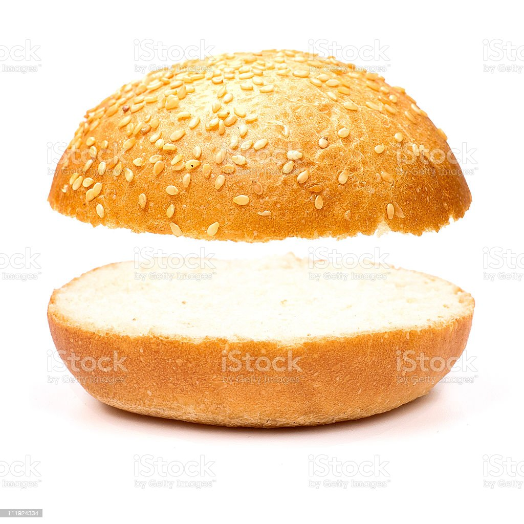 Sandwich without a stuffing stock photo