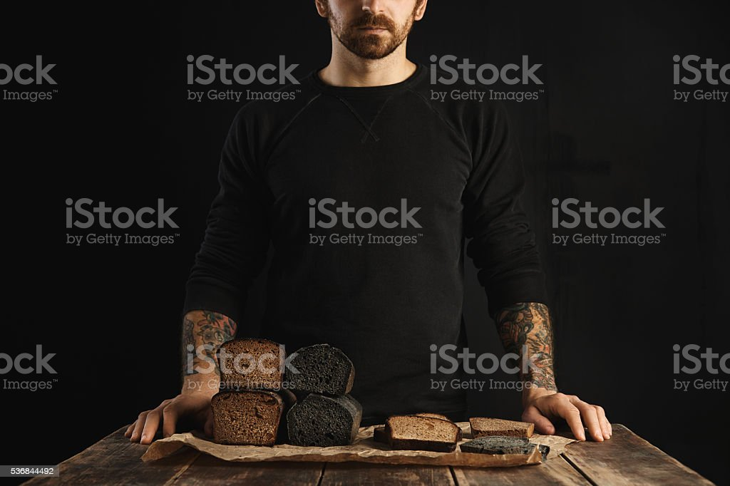 Sandwiches and breads stock photo
