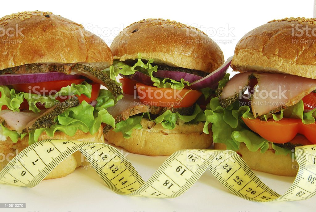 Sandwiches and diet royalty-free stock photo