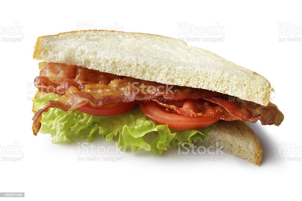 Sandwiches: Bacon, Lettuce and Tomato Sandwich BLT stock photo