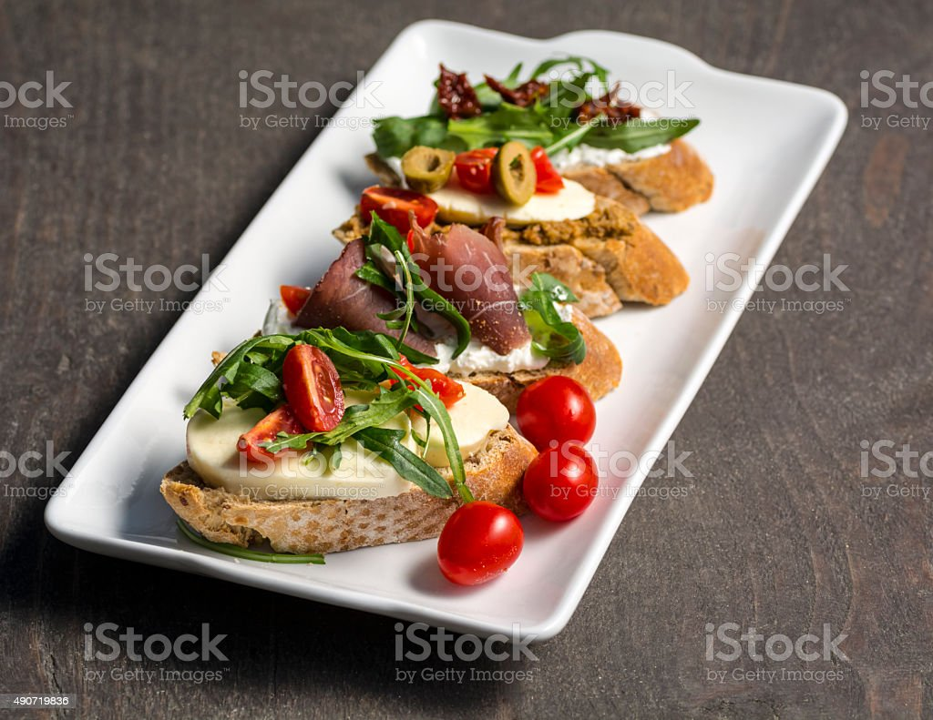 sandwiches on a plate royalty-free stock photo