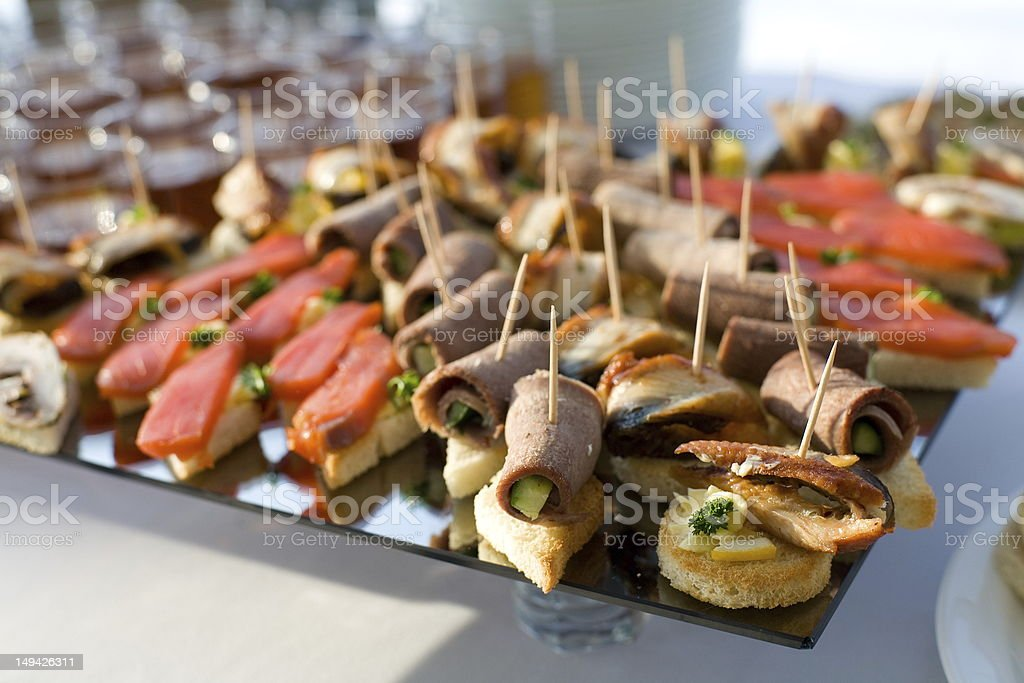 Sandwiches on the table royalty-free stock photo