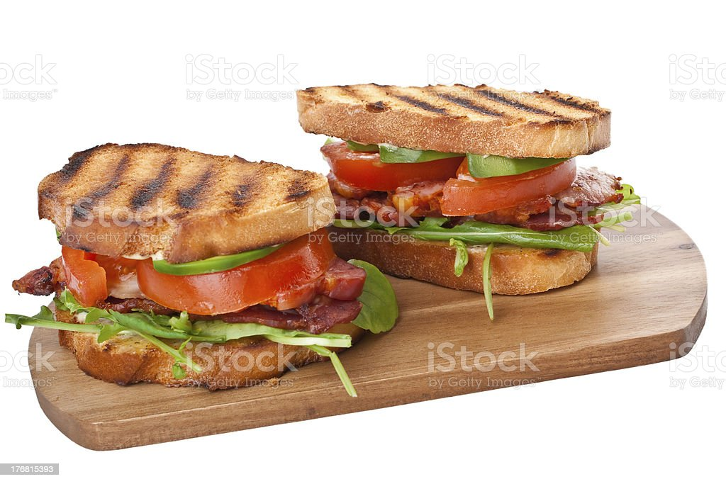 BLT sandwiches royalty-free stock photo