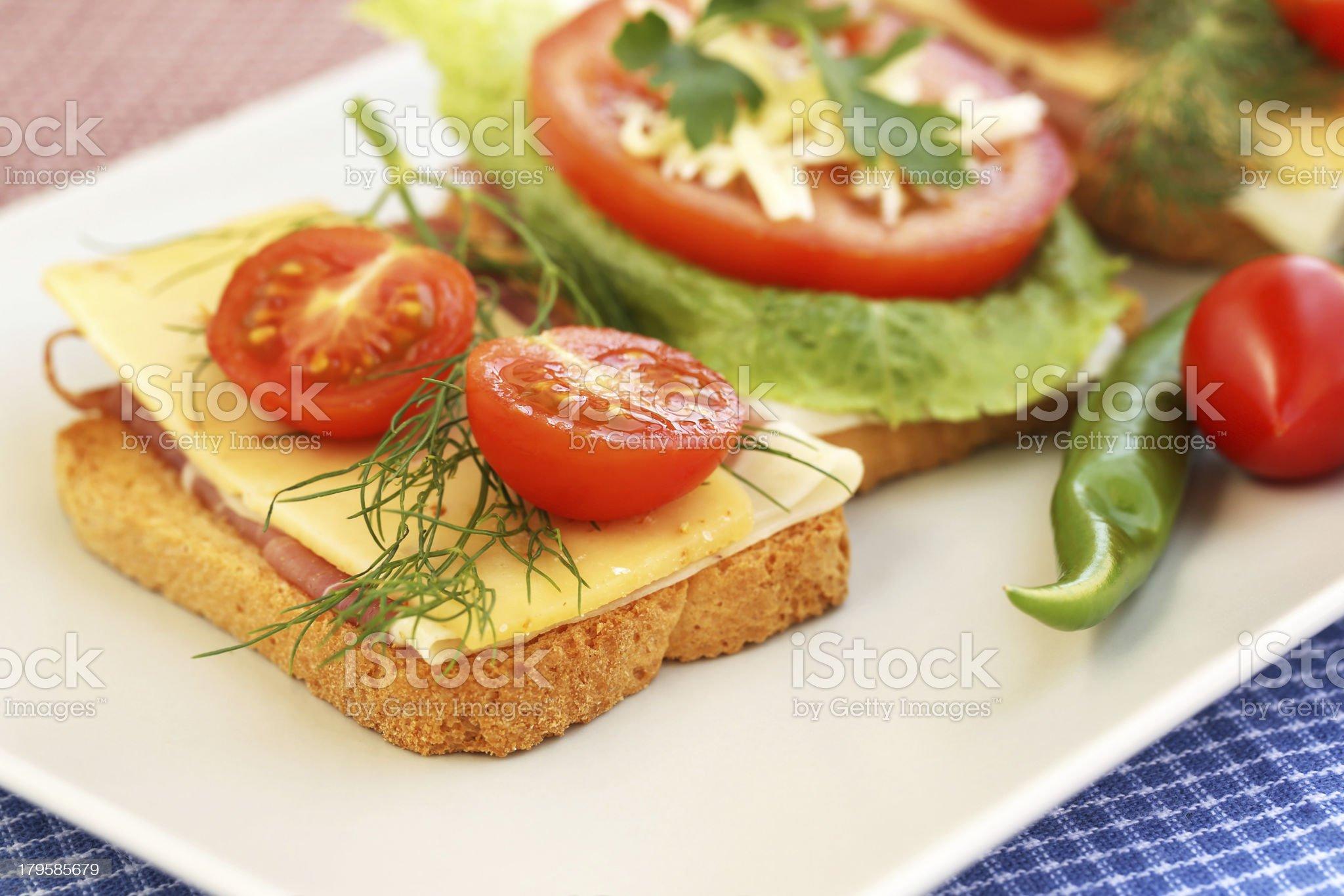 Sandwiches royalty-free stock photo