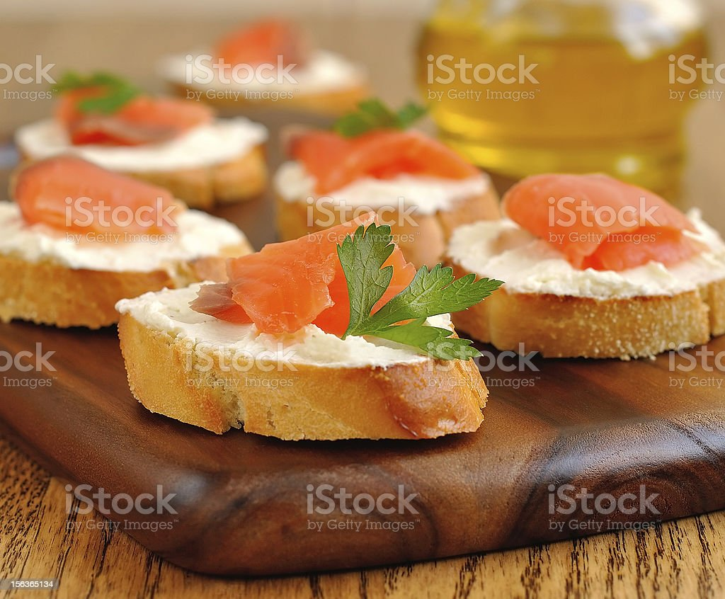 Sandwiches with a salmon royalty-free stock photo