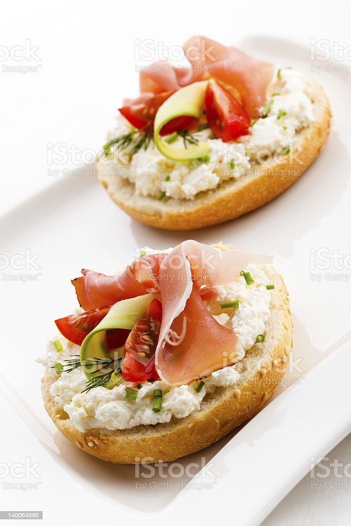 Sandwiches with bacon royalty-free stock photo