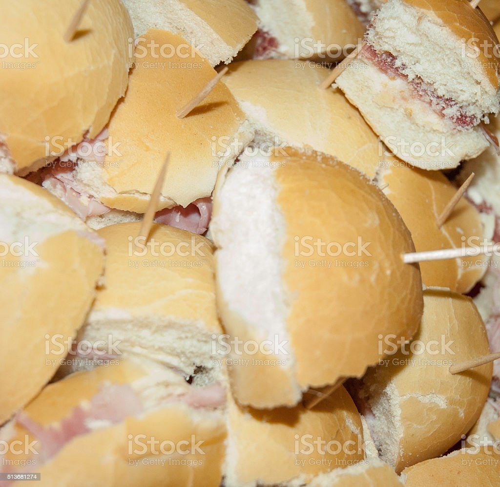 Sandwiches with ham royalty-free stock photo