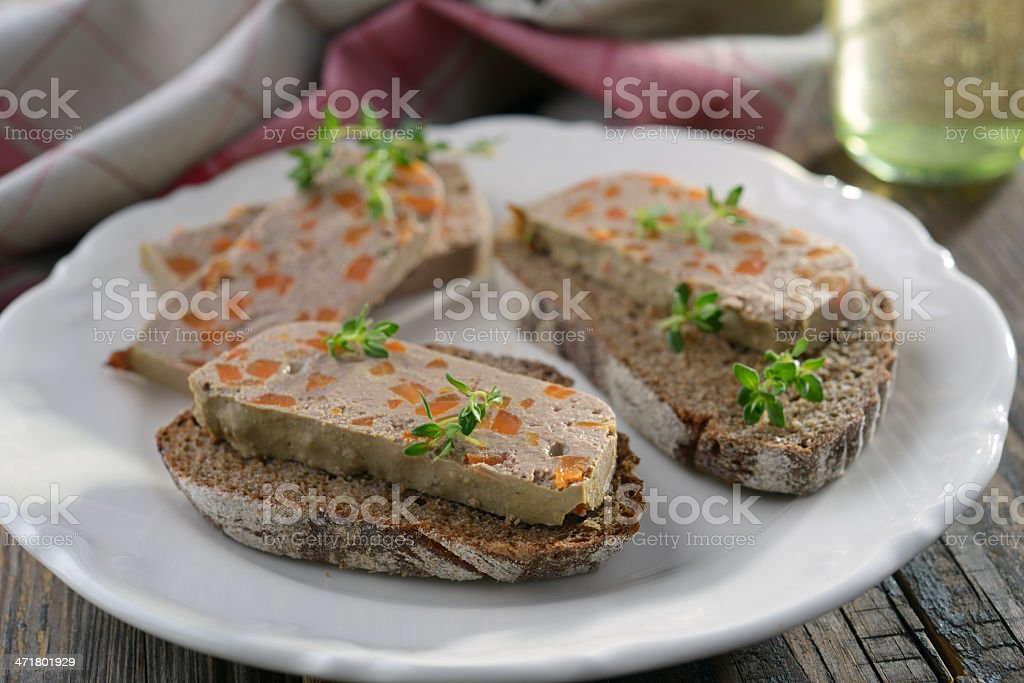 Sandwiches with liver pate stock photo