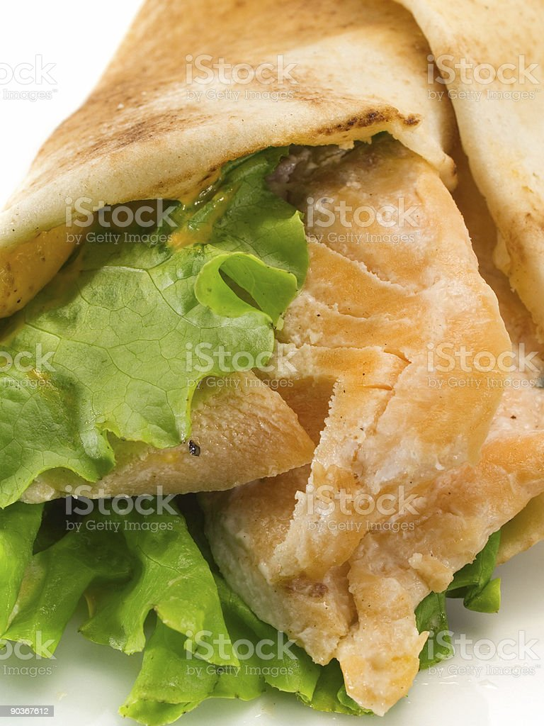 Sandwiches with Salmon royalty-free stock photo
