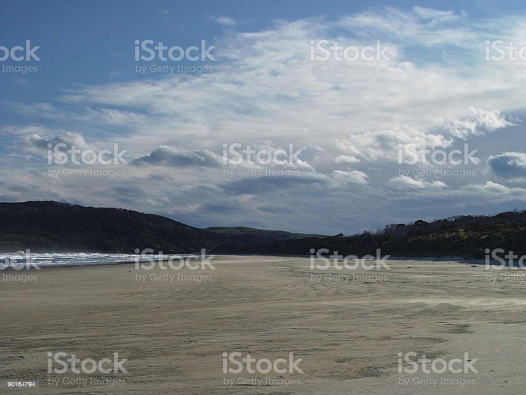 sandy and serene solitude stock photo