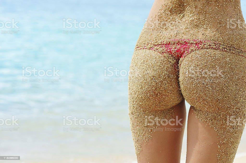 Sandy back stock photo