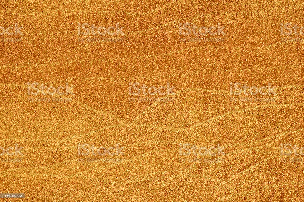 Sandy background with horizontal tracery. stock photo