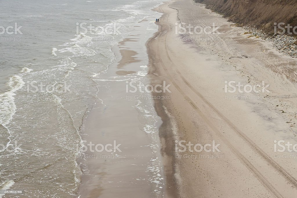 Sandy Baltic coast - Poland. stock photo