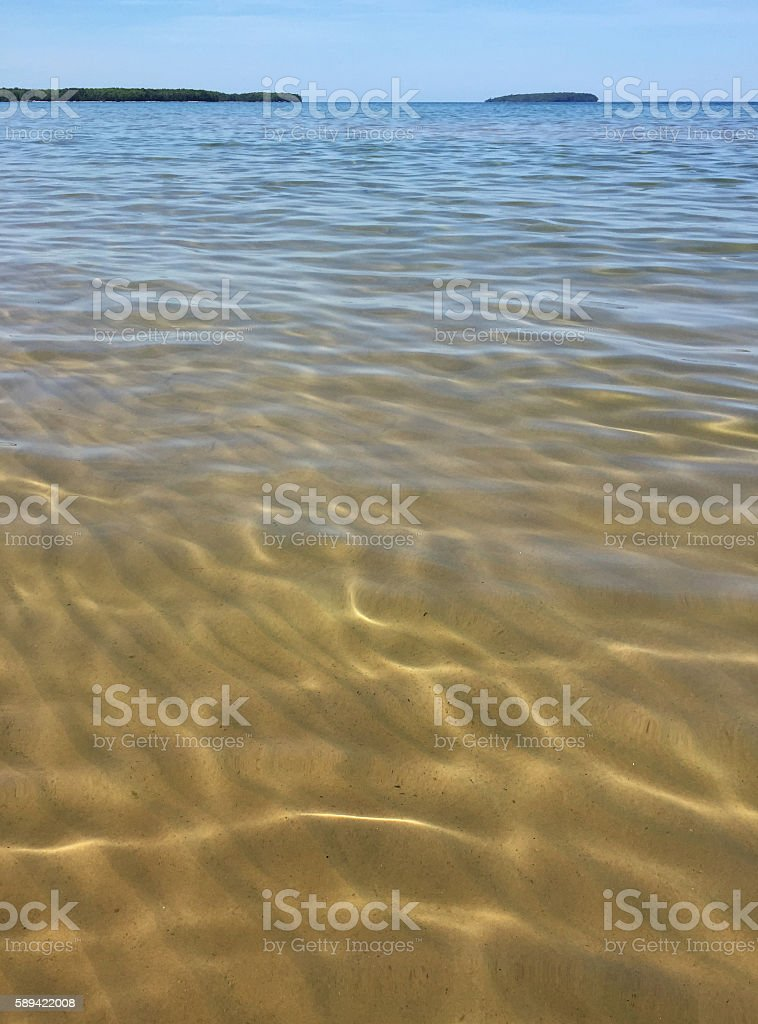 Sandy Beach and Clear Water royalty-free stock photo