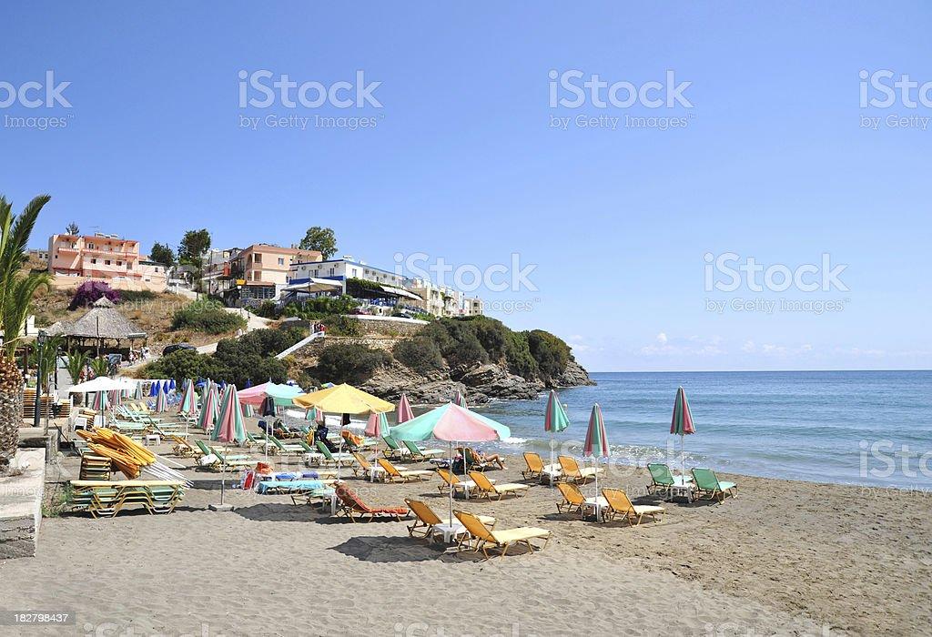 Sandy beach at Bali in Crete, Greece stock photo
