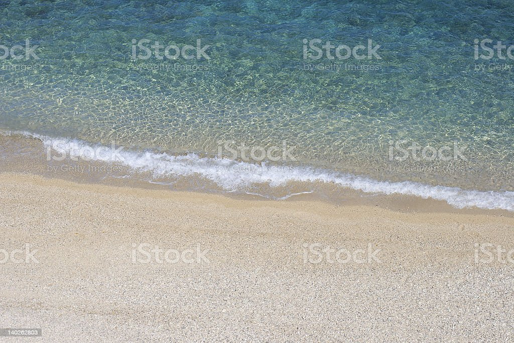 Sandy beach from above royalty-free stock photo