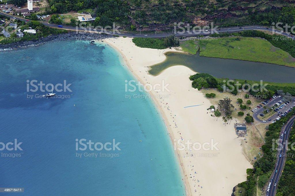 Sandy Beach Hawaii royalty-free stock photo